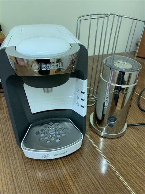 Revelux single serve coffee maker with milk frother/brand new. Bosch Tassimo coffee maker, seperate milk frother and pod storage. | in Rothley, Leicestershire ...