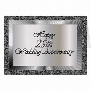 happy 25th wedding anniversary greeting card zazzle With images of 25th wedding anniversary cards