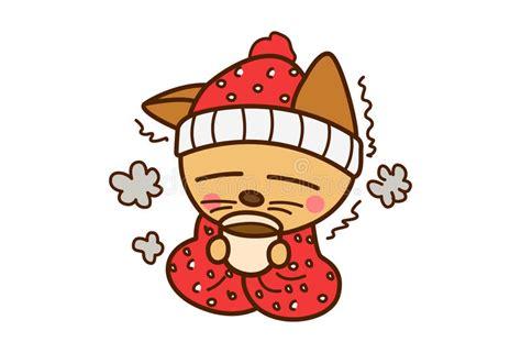 Chat froid illustration stock. Illustration du animal ...