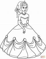 Princess Coloring Pages Printable Ball Gown Drawing Princesses Colouring Games Gowns Disney Getdrawings Awesome Paper Prints Albanysinsanity sketch template