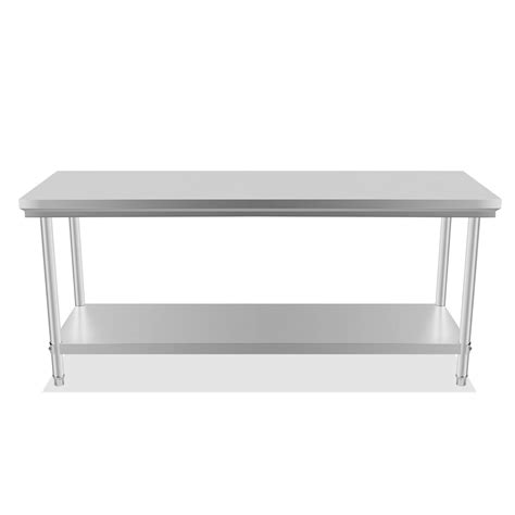 kitchen work bench 201 commercial stainless steel kitchen work bench top food grade prep table ebay