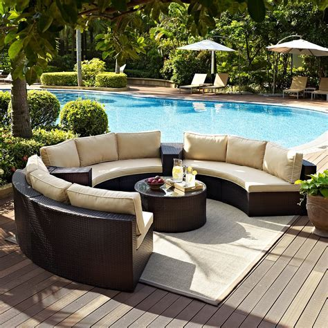 Crosley Catalina 6 Piece Outdoor Wicker Curved
