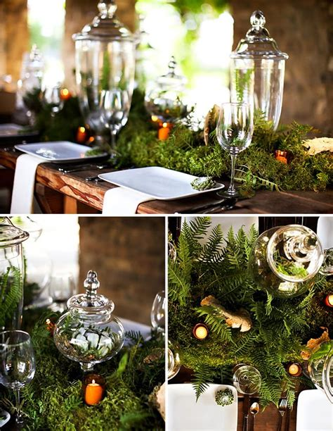 An Eco Forest Inspired Wedding Tablescape  Green Wedding