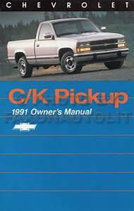 1991 Chevy C  K Pickup Wiring Diagram Manual Original