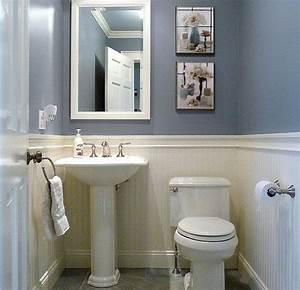 Dunstable Blue and White Half Bath | Small half bathrooms ...