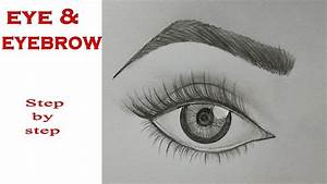 How to Draw Eye & Eyebrow Step by step (very easy) - YouTube