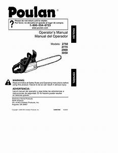 Poulan 2750 Chainsaw User Manual