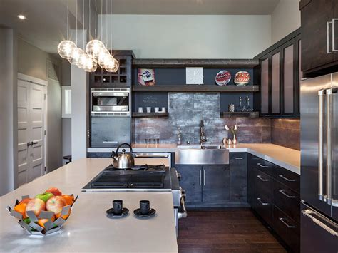 Modern Industrial Kitchen With Barn Wood Cabinetry