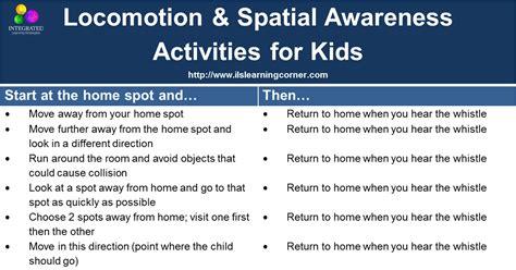 spatial awareness  locomotion activities  processing