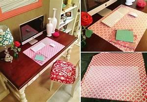 Schreibtischunterlage Selber Machen Diy Schreibtischunterlage