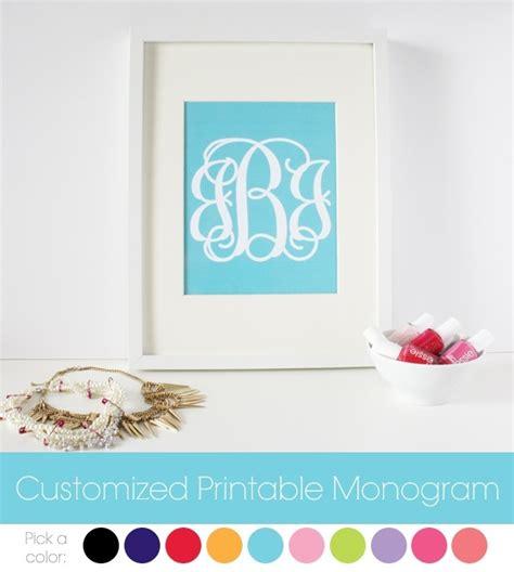 finally printable monogram  type   initials