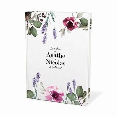 Livre Mariage Guest Provence Personnalise Pink Lavender
