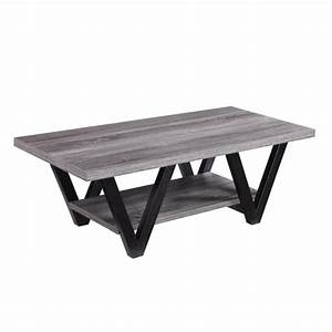 Antique grey and black coffee table for Black and grey coffee table