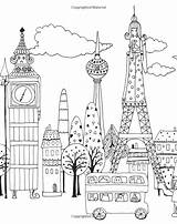 Coloring Pages Lulu Million Landmarks Cats Colour Colouring Mayo Adult Europe Buildings Cityscapes Felines Fabulous Houses Patterns Visit Books Grown sketch template