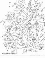 Meteor Coloring Shower 33kb 3300px 1522 2550 Falling Perseid Ekaterina Smirnova August sketch template