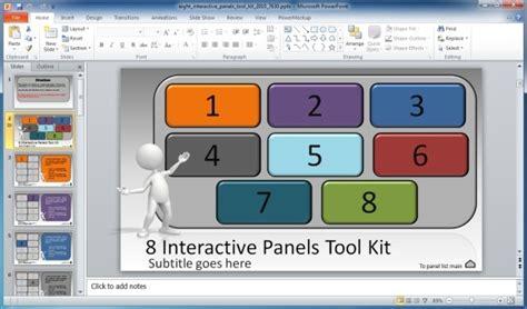 create interactive    interactive panels