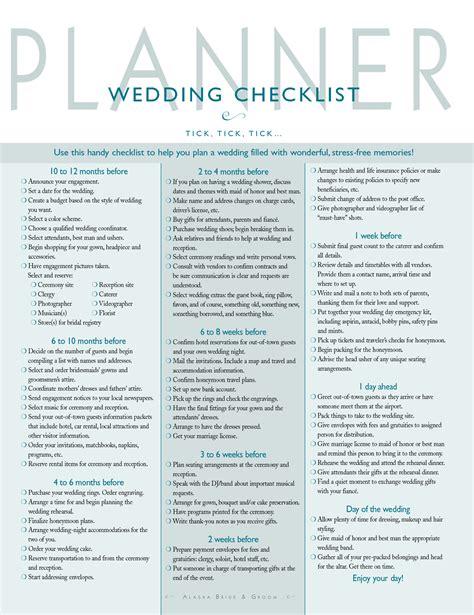 wedding checklist wedding