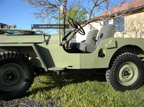 willys jeep off 1948 willys jeep cj 2a full frame off