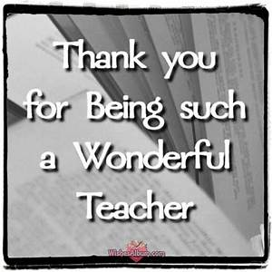 Thank You Notes For Teacher And Appreciation Messages