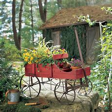 Amish Wagon Decorative Indoor  Outdoor Garden Backyard