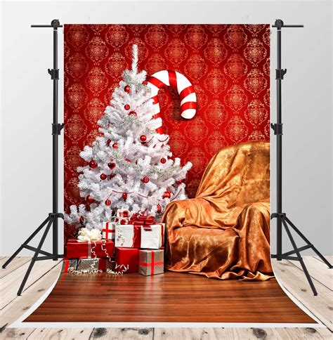 2019 white christmas tree photo backgrounds floor backdrop for 5x7ft