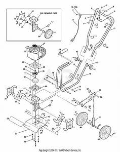 Troy Bilt 12216 Tiller    Edger Parts Diagram For General