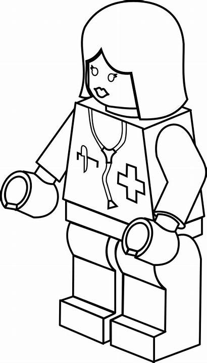 Lego Clipart Doctor Female Coloring Legos Pages