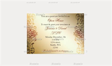 golden elegant corporate party invitation
