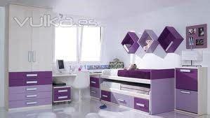 muebles violetas  dormitorio casa web