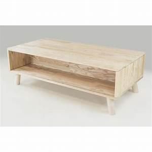 Table Basse Bois Scandinave : table basse scandinave rectangulaire viking bois brut peindre brut achat vente table ~ Teatrodelosmanantiales.com Idées de Décoration