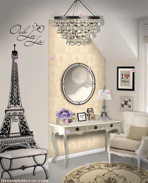 ultimate decor   paris themed bedroom amberise