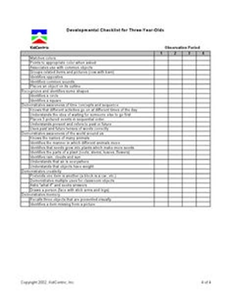 4 year old well child exam form assessment 3 4 year old page 1 of 2 assessment ideas
