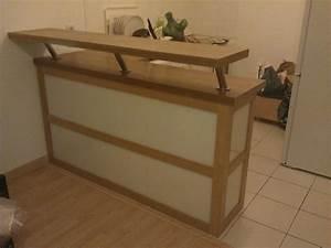 meuble separation cuisine ouverte par lemony sur l39air du bois With lovely meuble bar pour cuisine ouverte 2 comptoir bar cuisine americaine cuisine en image