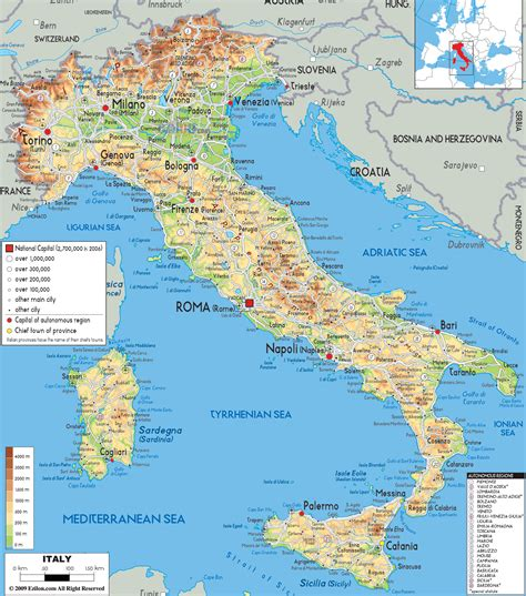 italy physical map shows gaeta  anna toscano