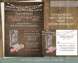 printable country western wedding invitations set cowboy boots With free printable cowboy wedding invitations