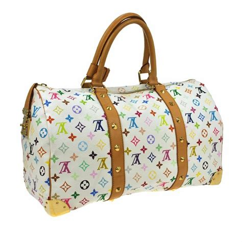 louis vuitton monogram multicolor keepall  weekend