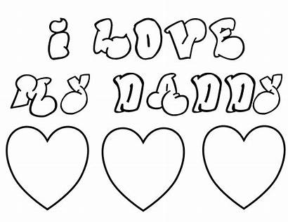 Coloring Pages Hearts Dad Father Heart Colouring