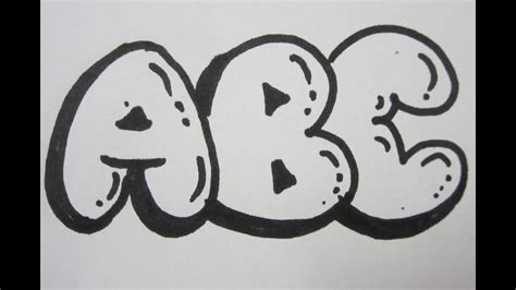 draw bubble letters  capital letters youtube