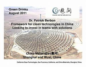 Framework for Clean Technologies in China