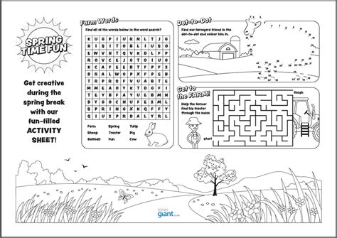 Kids Activity Sheets Printable Activity Sheet For Kids