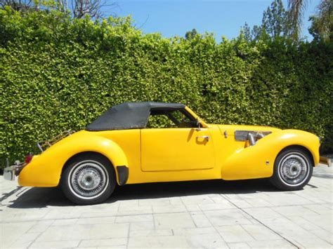 cord 1969 roadster built quot new quot in 1969 by sports automobile manufacturing co for sale cord
