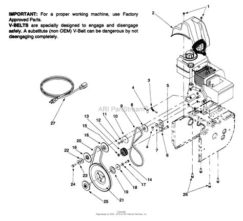 mtd aee  parts diagram  engine  belts