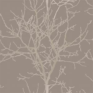 grandeco aurora light brown tree trail on shiny brown With markise balkon mit braun beige tapeten