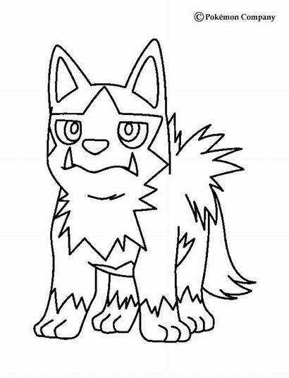 Pokemon Coloring Poochyena Pages Type Dark Para