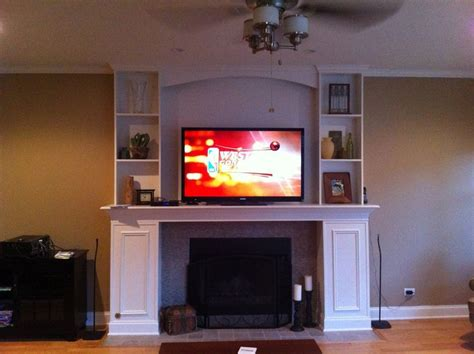 tv above fireplace where to put components 12 best fireplace images on fireplace mantels