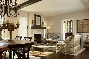 Fireplace Candle Holders And White Theme Wall Also Rustic