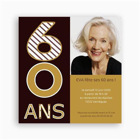 modele de carte d anniversaire 60 ans faire part anniversaire 60 ans