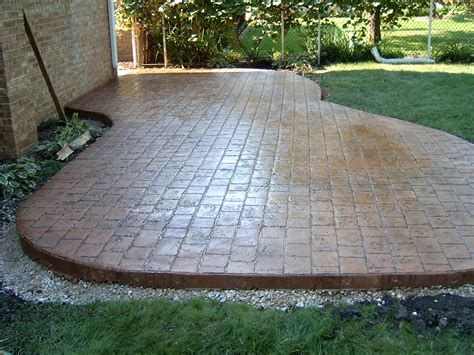 colored sted concrete patio colored sted