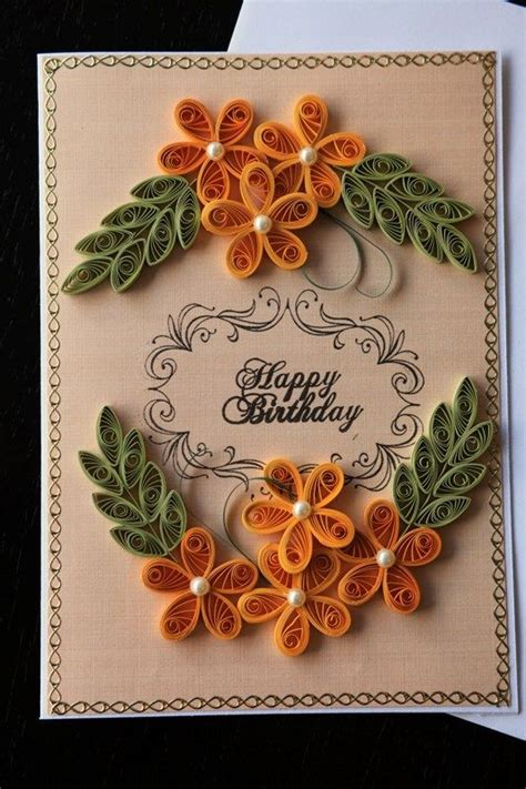 quilled birthday card paper quilling cards quilling