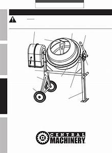 Harbor Freight 3 1 2 Cubic Ft Cement Mixer Product Manual